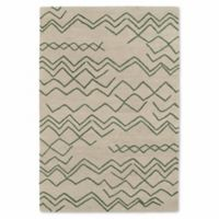 Kaleen Casablanca Ocean Markings 9-Foot 6-Inch x 13-Foot 6-Inch Area Rug in Emerald