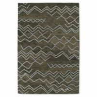 Kaleen Casablanca Ocean Markings 9-Foot 6-Inch x 13-Foot 6-Inch Area Rug in Ash