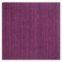Safavieh Natural Fiber Mallory 6-Foot Square Area Rug in Purple