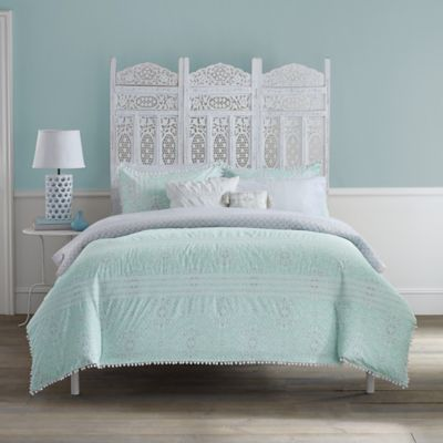anthology moroccan party king 7piece comforter set in mint greenwhite