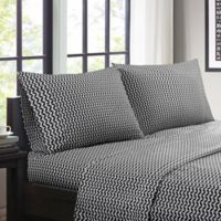 Intelligent Design Chevron Twin Sheet Set in Black