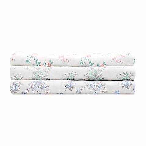 Madison Park Comfort Wash Floral Sheet Set In Aqua Bed