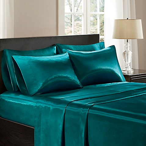 Madison Park Essentials Satin Sheet Set Bed Bath Amp Beyond