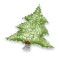 Julia Knight® Holly Sprig 16-Inch Tree Platter in Mojito