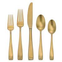 Oneida® Moda 45-Piece Flatware Set in Gold