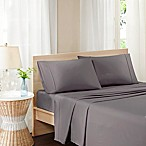 Madison Park Pure Soft Wash Queen Sheet Set in Grey