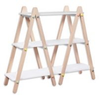 Babyletto Dottie Bookcase in White/Washed Natural