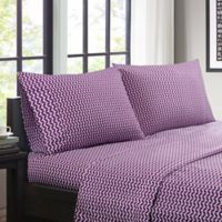 Intelligent Design Chevron King Sheet Set in Purple