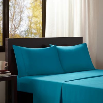 Amazing Intelligent Design Microfiber Twin Sheet Set In Teal