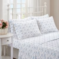 Madison Park Comfort Wash Floral Full Sheet Set in Blue