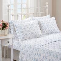 Madison Park Comfort Wash Floral Full Sheet Set in Blue