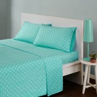 Mi Zone Polka Dot Full Sheet Set in Seafoam