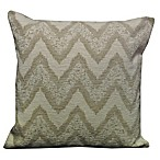 Chevron Chenille Throw Pillow in Natural