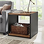 Forest Gate Steel Plate and Wood Side Table in Brown