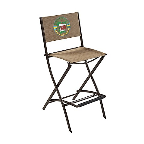 Margaritaville® Outdoor Sling Folding Bar Stool In Brown