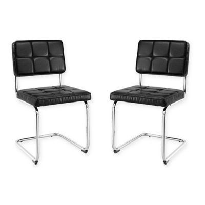 Breuer Chairs In Black Set Of 2
