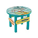 Margaritaville® Outdoor Classic Wood Round Side Table in Blue