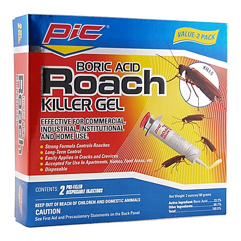 Boric Acid 2-Pack Roach Killer Gel - Bed Bath & Beyond