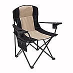 Oversized Folding Quad Chair in Black