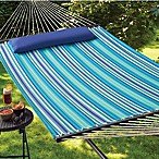 Cool Stripe Hammock with Pillow in Blue