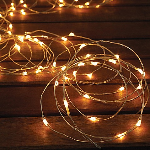 Solar powered 150 bulb micro led string lights