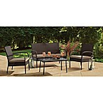 4-Piece Wicker Chat Set in Brown