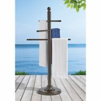 Aluminum Towel Bar in Brown