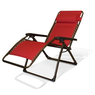salsa padded relaxer zero gravity chair in red