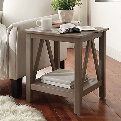 image of Titian End Table in Rustic Grey