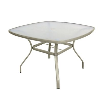 Tempered Glass Dining Table In Jasmine