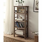 Titian Pine Bookcase in Rustic Gray