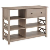 Titian Media Center in Rustic Grey