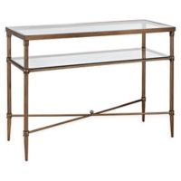 Madison Park Signature Porter Glass Console Table in Bronze