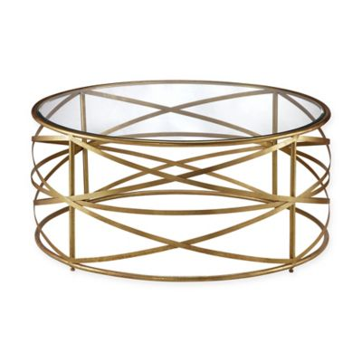 Madison Park Nora Metal Coffee Table In Gold