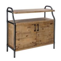 Madison Park Piper Accent Chest in Natural/Gun metal