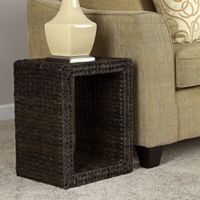 Household Essentials Havana Indoor/Outdoor End Table in Brown
