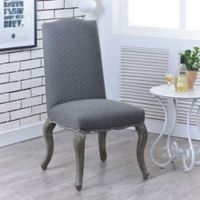 Quilted Cabriolet Upholstered Chairs in Grey (Set of 2)