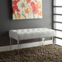 Home Elle Glitz Acrylic Leg Bench