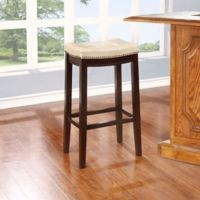 Claridge Barstool in Dark Brown/Jute