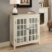 Largo Antique Double Door Cabinet in White