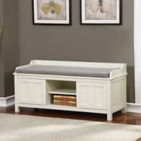 Linon Home Lakeville Storage Bench in Antique White
