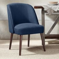 Madison Park Bexley Rounded Back Dining Chair in Blue