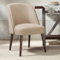 Madison Park Bexley Rounded Back Dining Chair in Natural