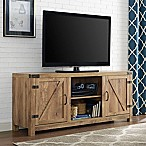 Walker Edison Wheatland Barn Door TV Stand in Barnwood