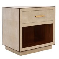 Safavieh Mastic Shagreen Side Table in Beige