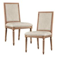 Madison Park Lulu Dining Chairs in Beige (Set of 2)