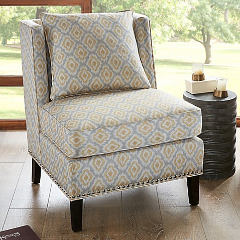 Madison Park Dexter Armless Shelter Chair In Yellow Bed