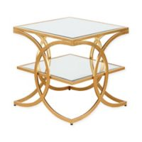 Madison Park Evan End Table in Gold