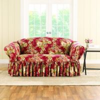 Sure Fit® Ballad Bouquet by Waverly™ Loveseat Slipcover in Crimson