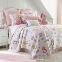 Levtex Home Joelle Reversible 2-Piece Twin Quilt Set in Pink
